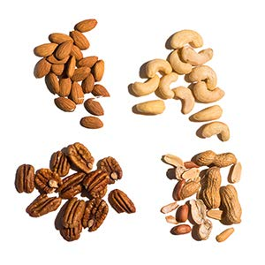 nuts protein almonds peanuts cashews