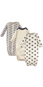 organic baby gown, baby bedding, baby sleep