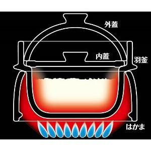 イシガキ産業 こだわりの羽釜 炊飯鍋 2合炊き はかま付き 3584
