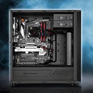 Sharkoon M25-W - Caja de Ordenador, PC Gaming, Semitorre ATX, Acrílico, Negro: Sharkoon: Amazon.es: Informática