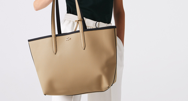 Bolso tote reversible beige y negro Anna para mujer