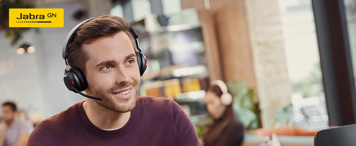Jabra Evolve2 65 Wireless Pc Headset Mit Ladestation Noise Cancelling Microsoft Teams Zertifizierte Stereo Kopfhörer Mit Langer Akkulaufzeit Usb A Bluetooth Adapter Schwarz Elektronik