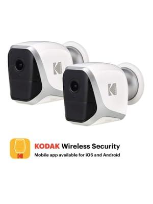 Paquete de 2 Cámara de Seguridad WiFi KODAK W101 Full HD 1080P, Totalmente Independiente, para Interiores o Exteriores, con batería (Duración de hasta ...