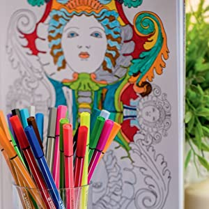 coloring pens for adult coloring books kids markers gel pencils brush tip pen 68 different shades