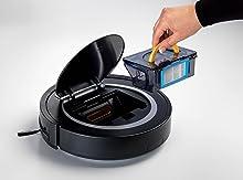 Ariete 2718 Xclean Robot Aspirapolvere, Partenza Ritardata, Filtro HEPA, Autonomia 1.5 h, 65 dB, diametro: 30 cm, Capacità 300 ml, Nero