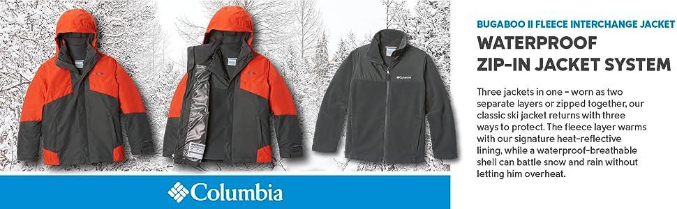 Columbia Boy's Youth Bugaboo II Fleece Interchange Jacket