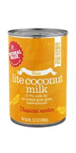 pure natural value lite light coconut milk