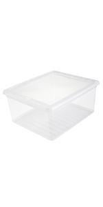 keeeper Caja de Almacenaje con Sistema de Apilado, 54,5 x 39 x 29,5 cm, 45 l, Emil, Negro: Amazon.es: Hogar