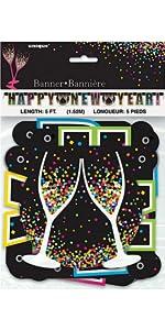 9 small black tissue paper pom poms 3ct new years mini top hats 4ct 12 happy new year confetti balloons 6ct 5ft confetti happy new year banner