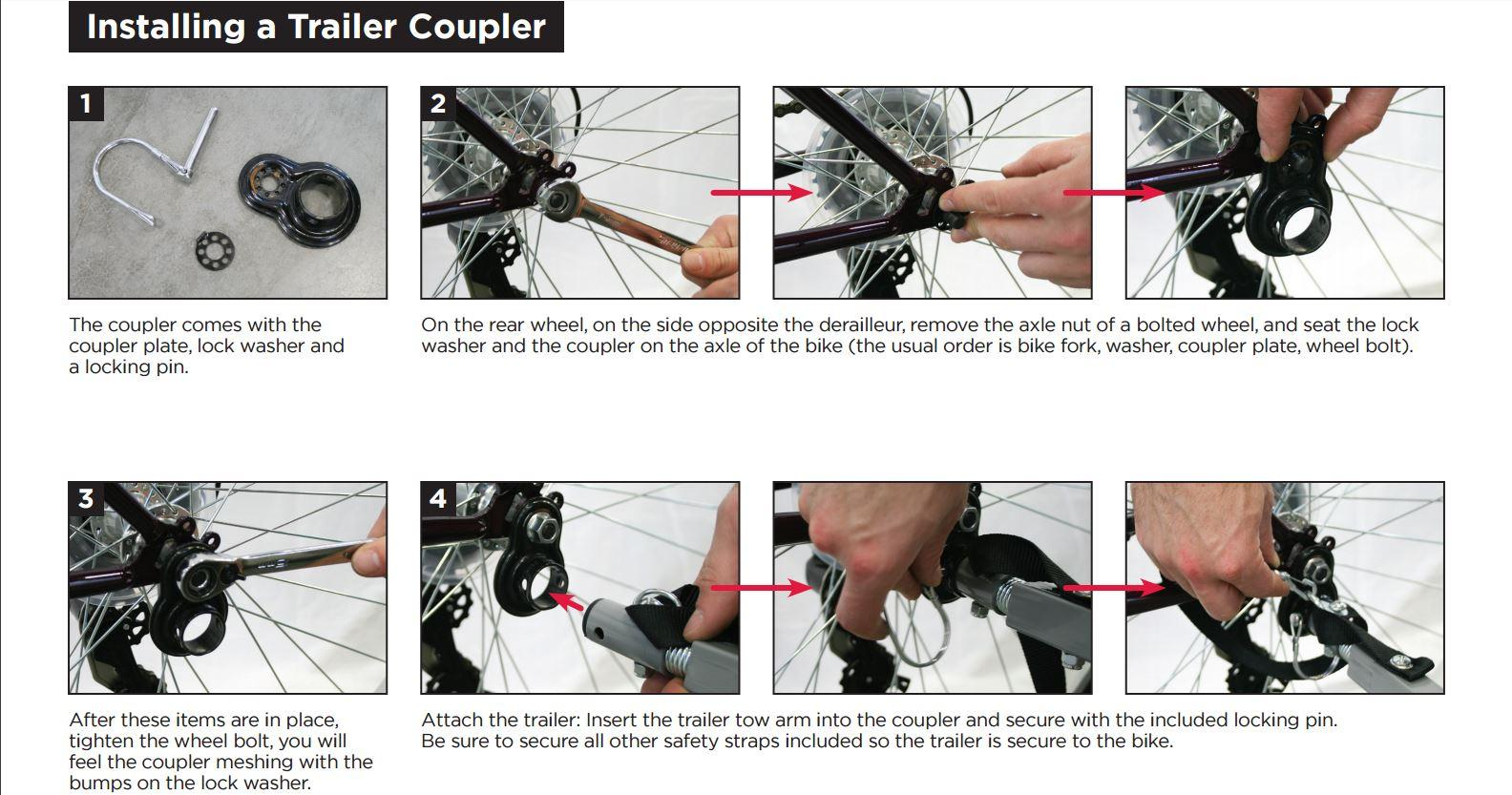 Instep Coupler Attachment Schwinn Bike Trailers