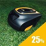 McCulloch Mähroboter können Rasen mit einer Steigung von 25 Prozent mähen