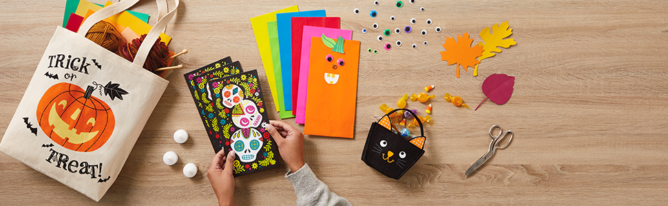 Hallmark Halloween gift bags including reusable fabric tote bags & paper party favor bags for treats