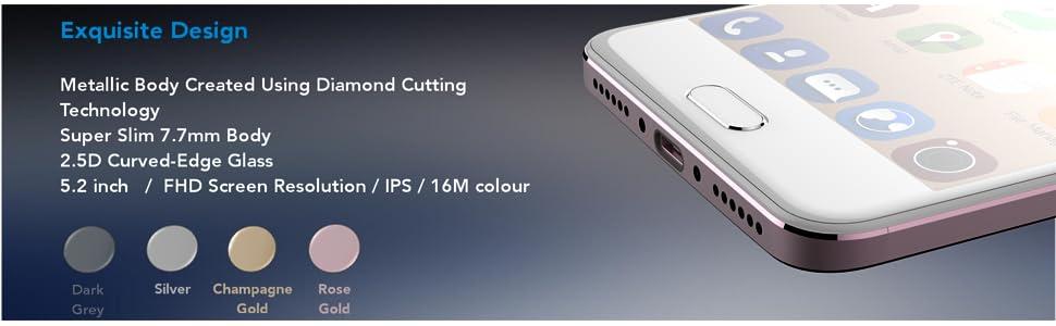 ZTE Blade V8 Dual Camera SIM-Free Smartphone - Rose Gold