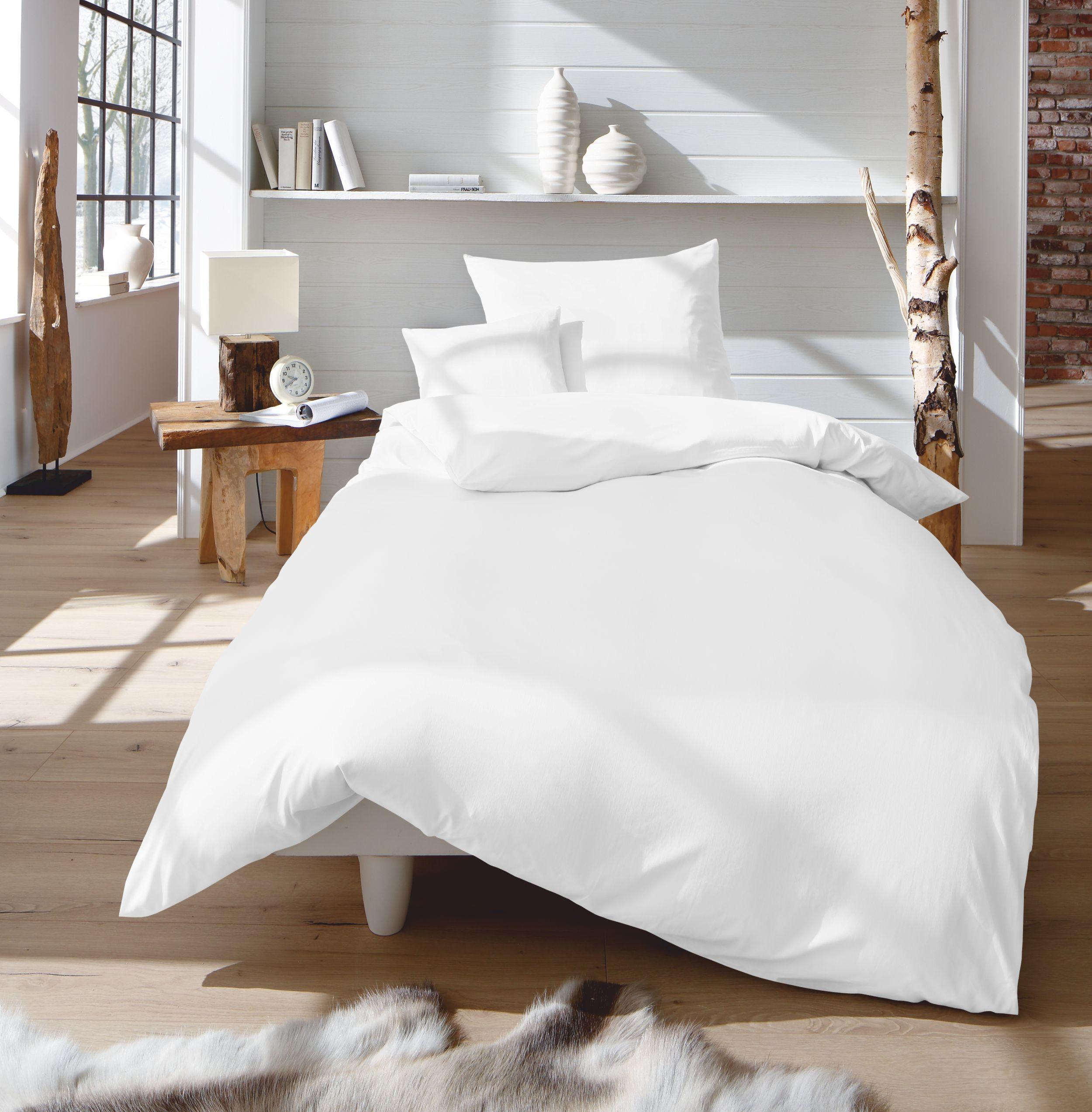 dream art riva bettw sche set baumwolle wei 135 x 200. Black Bedroom Furniture Sets. Home Design Ideas