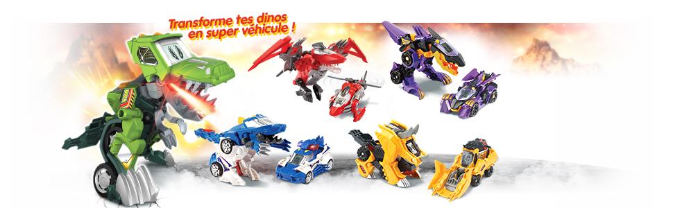 dino, voiture dino, voiture enfant, dino vehicule, switch, switch dino, dinosaure, voiture transfo