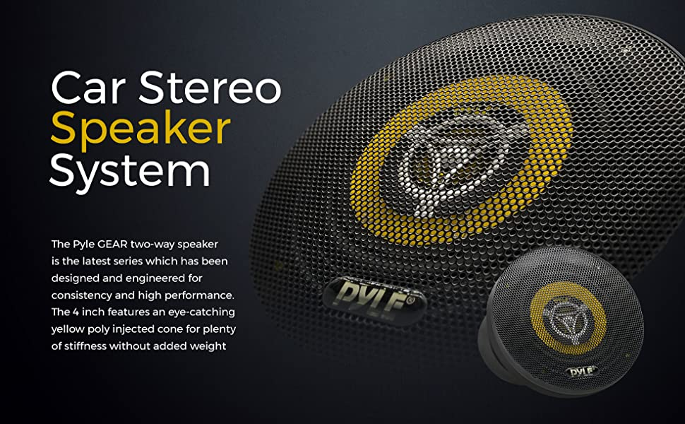 Pyle Car Audio Speaker, Car Audio Speaker, Car Speaker, Vehicle Speaker, Car Two Way Speaker