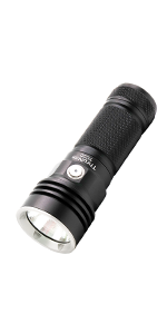 4000 high lumens powerful super bright flashlight