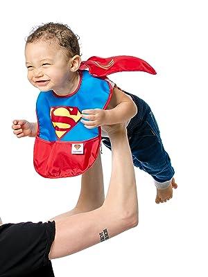 superhero baby bib
