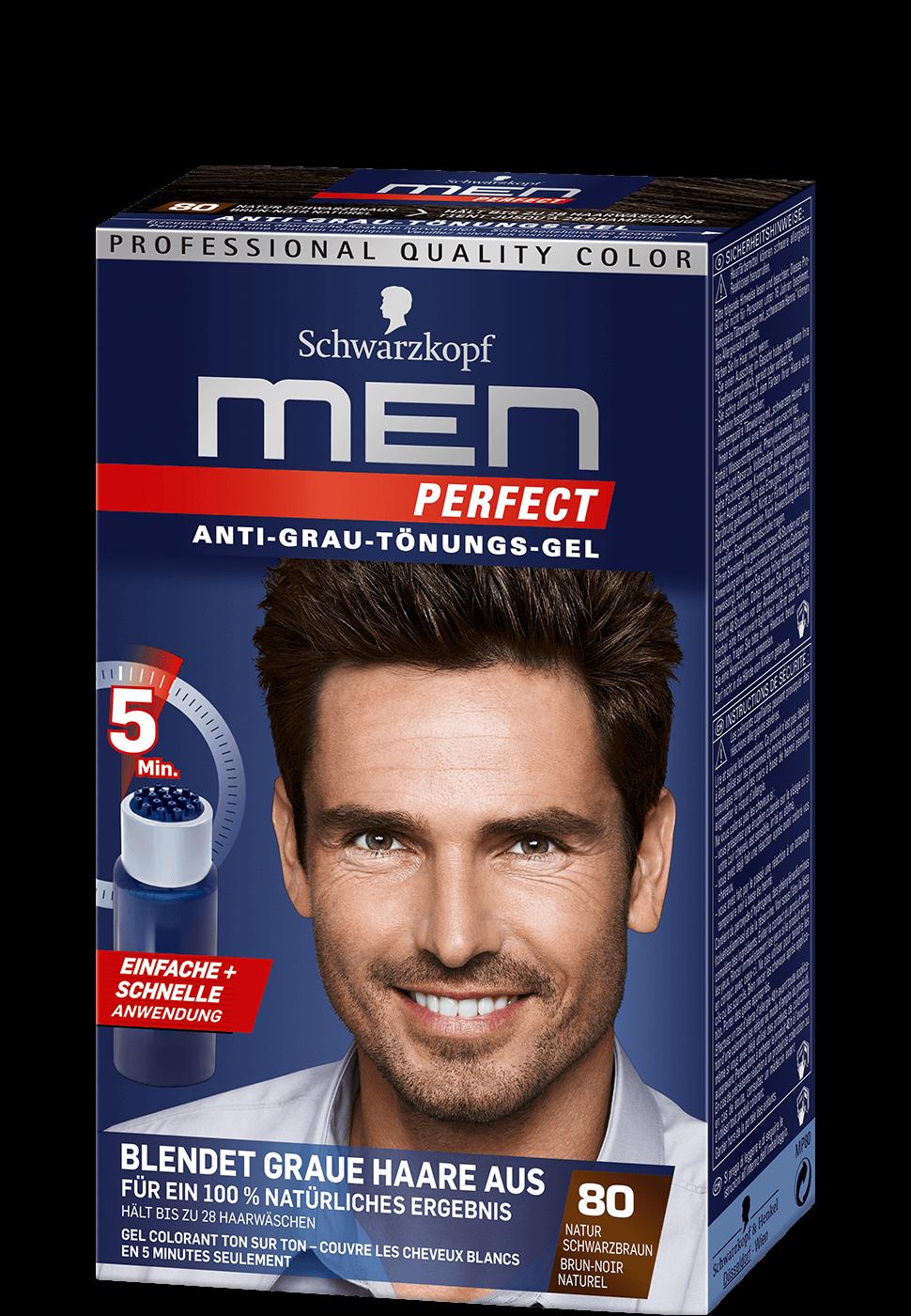 Schwarzkopf men perfect anti grau t nungs gel 40 natur dunkelblond graue haare ausblenden mit - 10 minuten haarfarbe ...