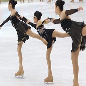 BINGHUOZHIWU Girls Practice Figure Skating A-line Skate Skirt