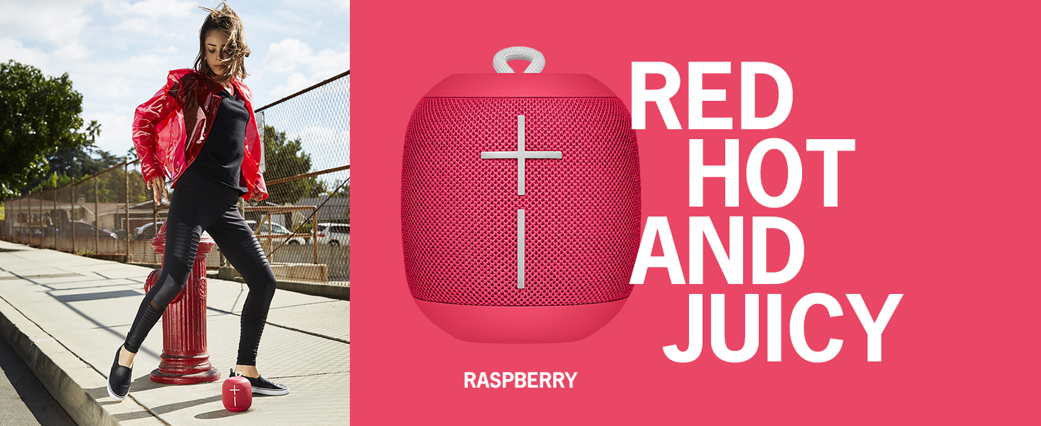b9234c38f96 Amazon.com  WONDERBOOM Waterproof Bluetooth Speaker - Raspberry