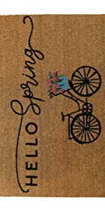 elrene home fashions farmhouse living collection bicycle doormat coir mat, rug