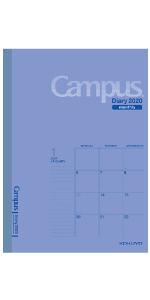 コクヨ 手帳 2020 1月 12月始まり スケジュール ダイアリー 週間 キャンパス campus 月曜始まり スタンダード メモ 一ヶ月 マンスリー genntei  32 ビジネス 女子 髙橋