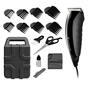 haircut clipper kit guide comb scissors cape barber indestructible case blade oil
