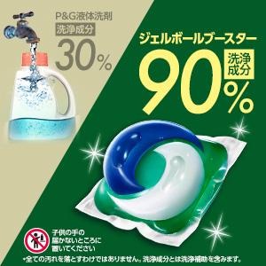 ジェルボールは90%が洗浄成分