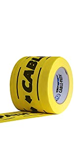 Cable Path 4x30yds Yellow Cloth Tape UPC