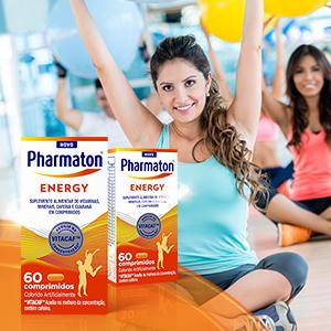 pharmathon energy, vitaminas e minerais, saudável, energia, metabolismo energético, cafeina