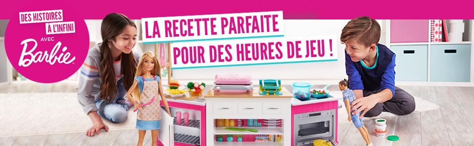 Barbie Metiers Coffret Poupee Cheffe Avec Kit Cuisine Comprenant