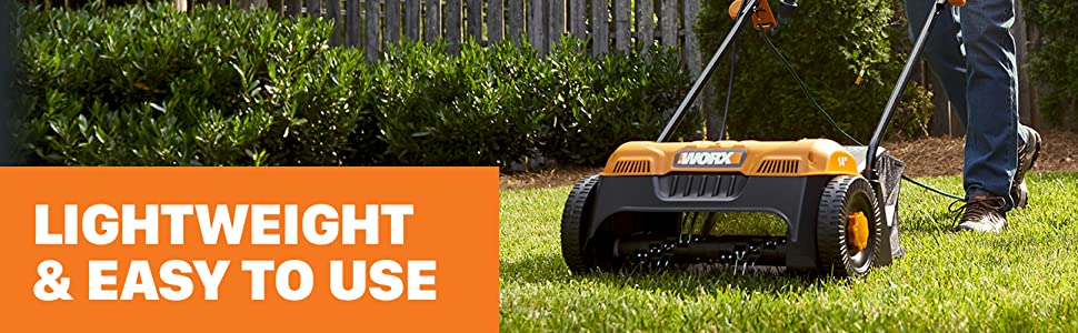 Lightweight and easy to use; Lawn Dethatcher