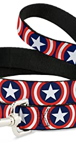 Captain America Shield Marvel Comics Steve Rodgers Leash Dog adamantium