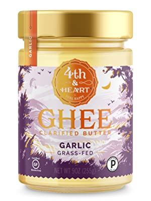 fourth and heart 4th grass fed pasture raised ghee butter clarified lactose free casein garlic