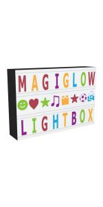 A4 Cinema Lightbox Colour Letters