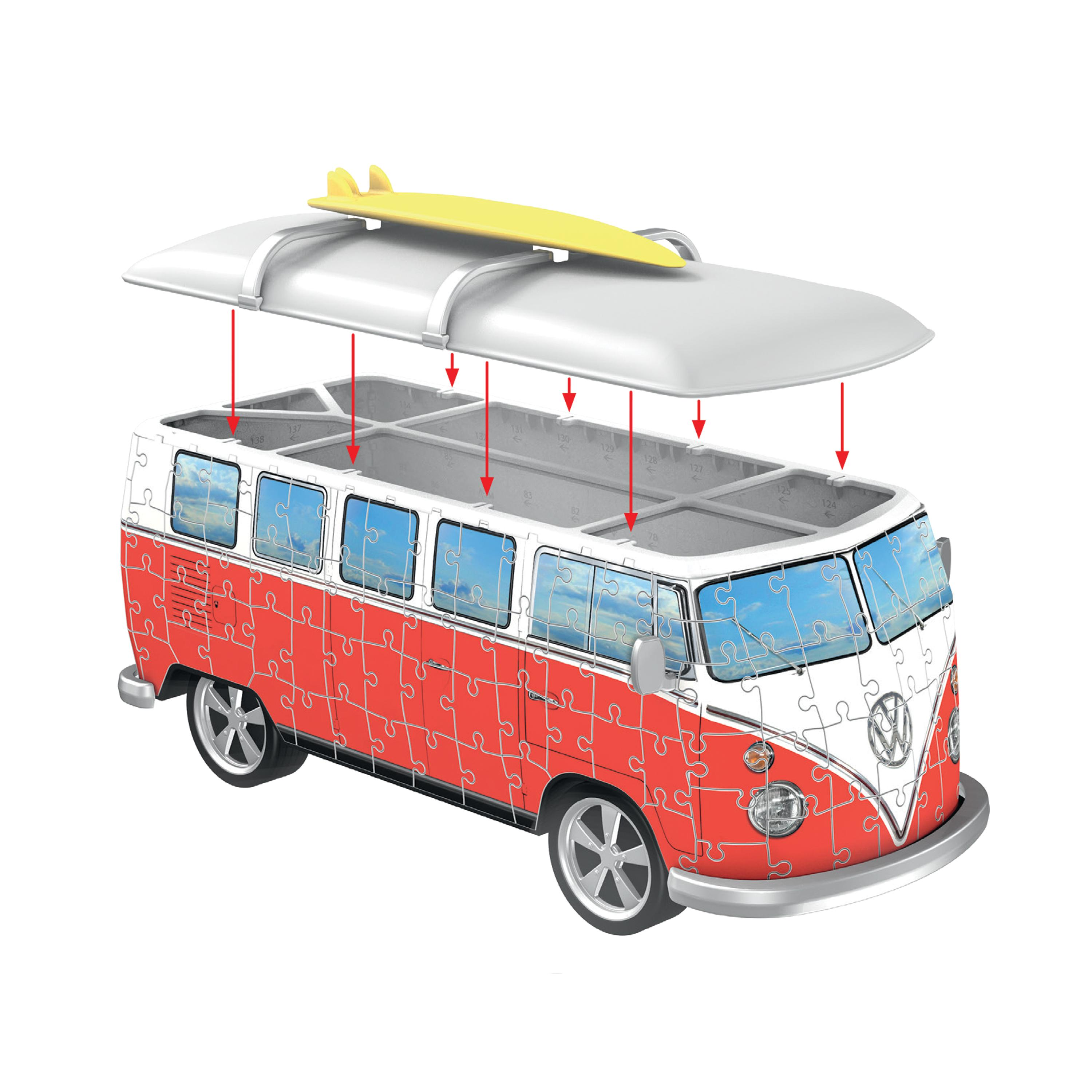 ravensburger volkswagen t1 campervan 162 piece. Black Bedroom Furniture Sets. Home Design Ideas