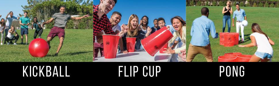 Flip cup and shenanigans on college rules