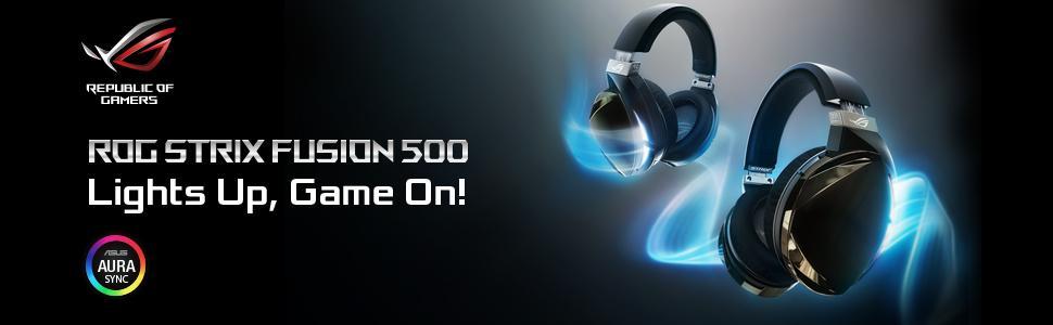 ASUS ROG Strix Fusion 500 gaming headset with hi-fi-grade ESS DAC ... ccaee0b20056