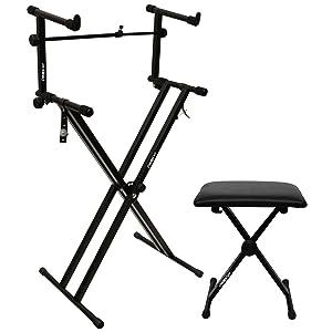 keyboard stand, bench, adapter, bundle
