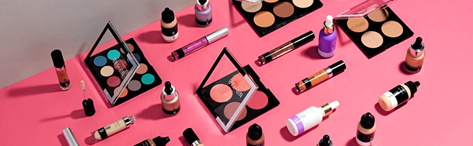 make-up cosmetica oogschaduw vloeibare goud hoogtepunt blusher concealer foundation primer contour nip fab