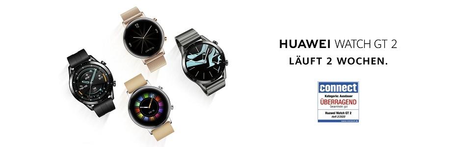Huawei horloge GT 2; smartwatch; 42mm; 1 week; runtijd; smart; horloge; sport