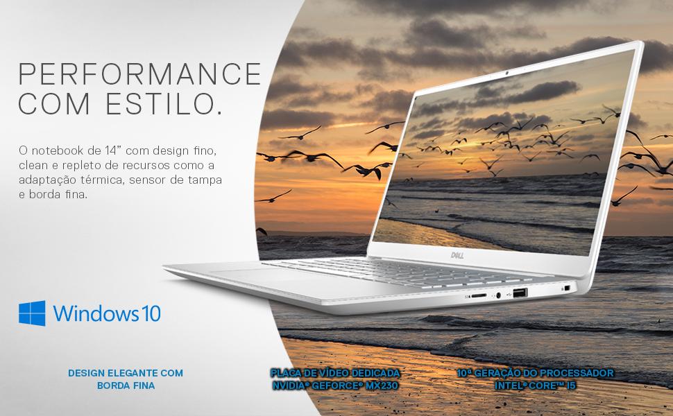 Notebook Ultrafino Dell Inspiron I14-5490-A20S 10ª Geração