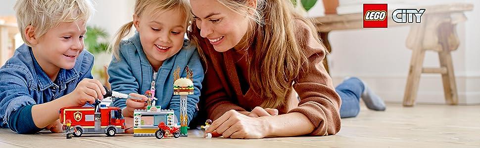 LEGO, toys, fireman, build