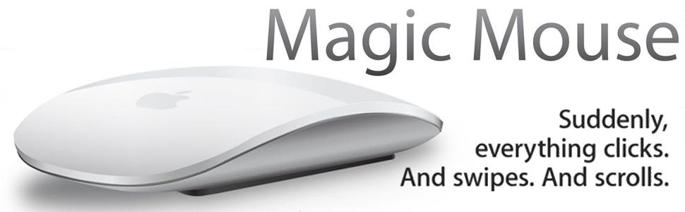 Apple Magic mouse; macbook; imac; pro; MB829LL/A; mice; macintosh; bluetooth; mac; wireless; click