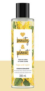 love beauty and planet,shampoo,óleo de coco,ylang,hope and repair,recuperação,cabelos danificados