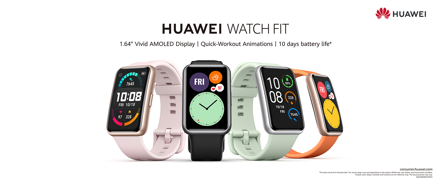 1.64'' Vivid AMOLED Display   Quick-Workout Animations   10 days battery life