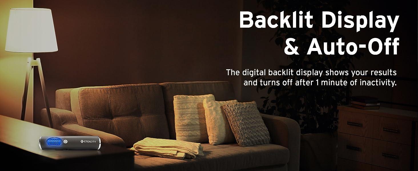 Backlit Display & Auto-off