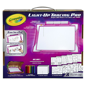 Crayola; Pink; Crayons; Light Up Tracing Pad; LED; LED tablet; Kids; Kids Tracing; Kids LED Tablet