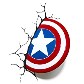 Marvel captain america shield 3d wall light amazon toys games view larger aloadofball Image collections
